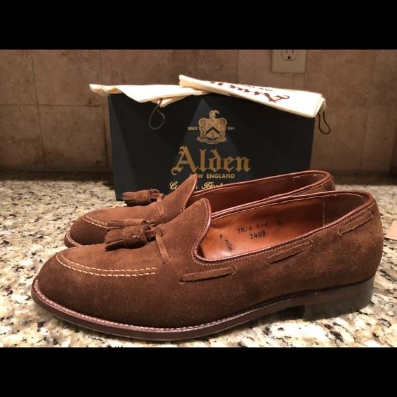 08b8f514b7d Alden Other - Alden 3403 Snuff suede tassel loafers 9D. Like new